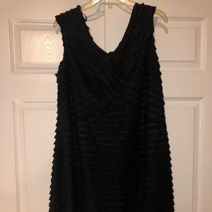 Lane Bryant plus size 22 black cocktail dress